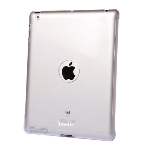 Poetic ThinShell Duo Acrylic Back Smart Cover Partner Case for the NEW Apple iPad 3rd Gen compatible with Apple Smart Cover Crystal Clear (3 Year Manufacturer Warranty From Poetic)