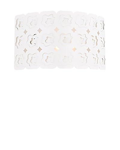 Homemania Lampada Da Parete Pandion Bianco 30 x 18 cm