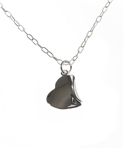 Silver 18 Inches Heart Necklet