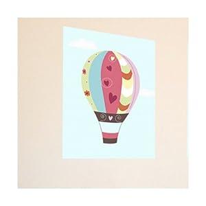 """Hot Air Balloon Canvas Art Size: 11"""" H x 14"""" W"""