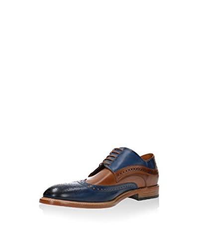 GINO ROSSI Derby [Blu Navy/Marrone]