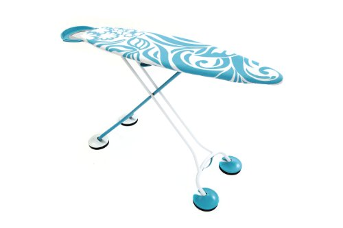iBoard Ironing Board, Amazingly Stable with Padded Non-Slip Feet, Whisper Quiet and Stunning to Look at! 15 by 51-Inch, Hawaiian flower, Aqua blue