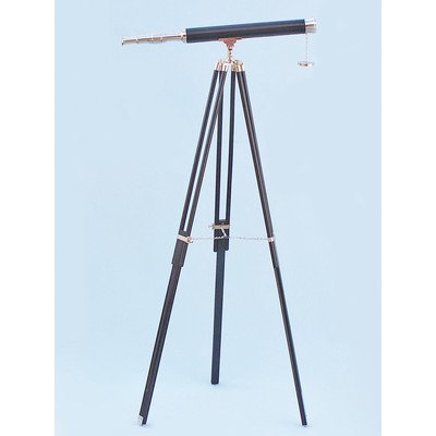 Floor Standing Leather Harbor Master Refractor Telescope Finish: Chrome