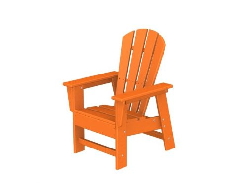 Recycled Venice Beach Outdoor Patio Kid's Adirondack Chair - Orange Tangerine
