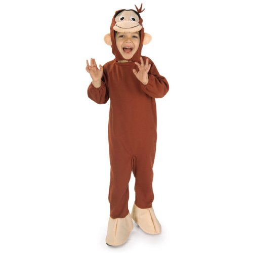 Rubies Costumes Curious George Toddler / Child Costume Brown Toddler