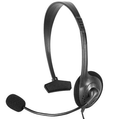 Guilty Gadgets - Black Single Comfortable Headphone Headset And Microphone For Xbox 360 Live