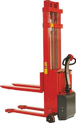 "Beacon Trans-Stacker Fork Over Design - Electric Drive / Electric Lift; Capacity: 3,000 Lbs.; Raised Fork Height: 63""; Lowered Fork Height: 3-1/4""; Fork Width: 6-1/2""; Raised Mast Height: 77""; Lowered Mast Height: 76""; Overall Width: 27""; Overall Length:"