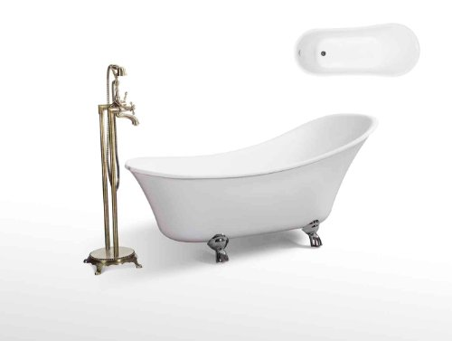 Modern Bathtub - Soaking Bathtub - Freestanding Bathtub - Sorento 61