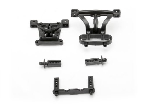 Traxxas 7015 Body Mounts and Body Posts Front and Rear, 1/16 Revo