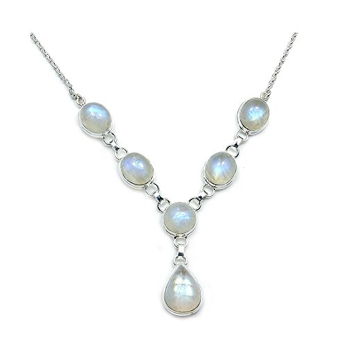 'Dreams And Whispers' Sterling Silver Moonstone Necklace front-581207