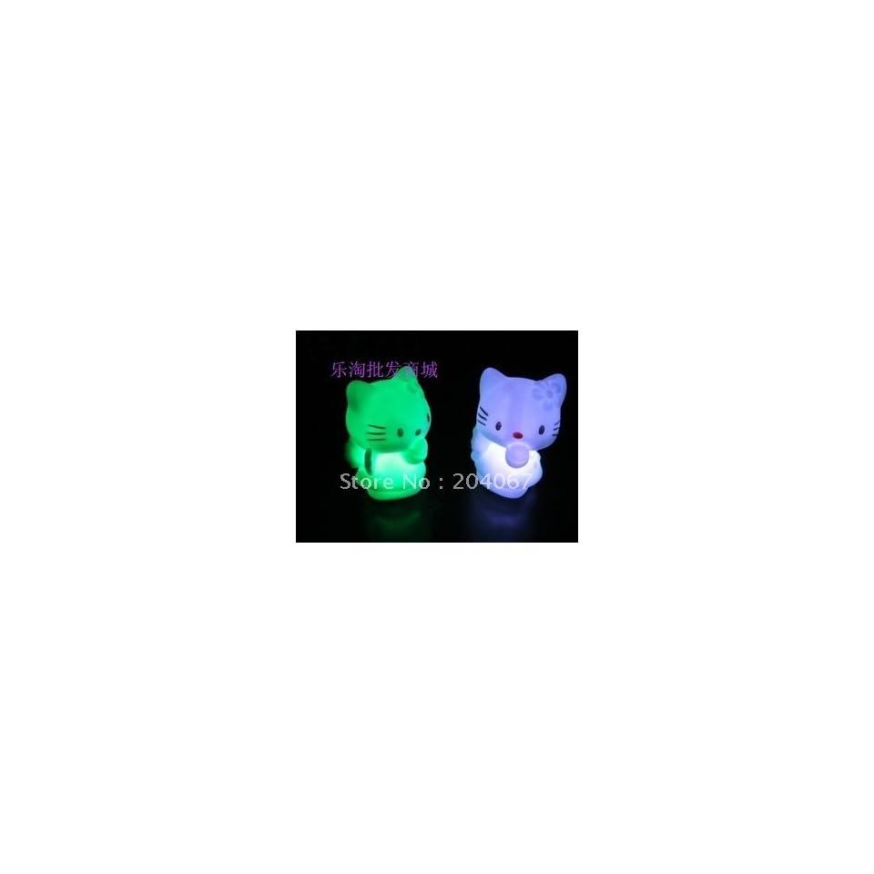 hello kitty led lamp light toys for xmas toys high quality pvc 9cm size 15pcs/lot l183