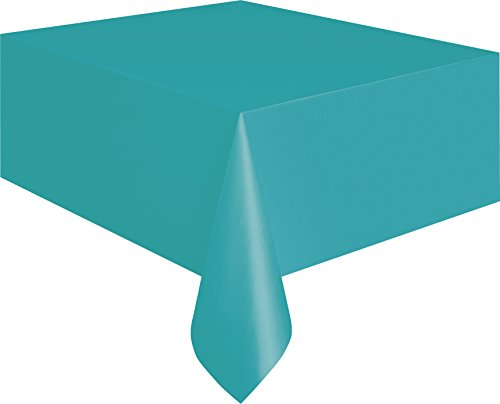 Teal Plastic Tablecloth, 108