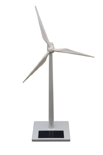 FatCat FCP1083 White Metal Solar Desktop Wind Turbine