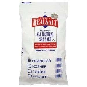 Real Salt - Bulk Bag , 25 pound -- 1 each