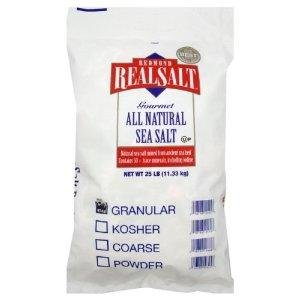 Real Salt - Bulk Bag , 25 pound -- 1 each