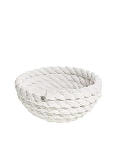 Areaware Coil Rope Bowl, White