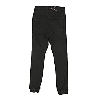 "Kayden K Men's Denim Jogger Pants ""Black"", 28, Black"