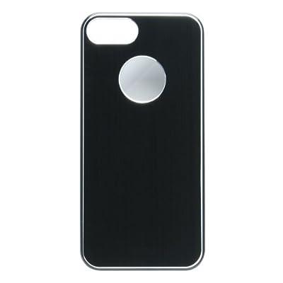 PURO iPhone5専用メタルカバー(液晶保護フィルムセット) ブラック IPC5METALBLK