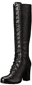 FRYE Women's Parker Tall Lace-Up Riding Boot,Black,9.5 M US