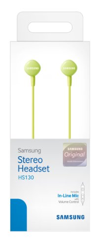 Samsung Hs130 Wired Stereo Earbud 3.5Mm Universal Headset With In-Line Multi-Function Answer/Call Button (Green)