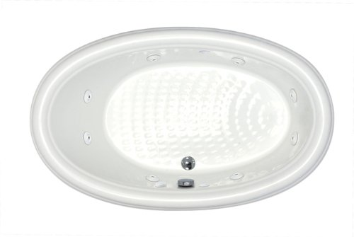 Sea Spa Tubs S4478Pcwr Tubs Petite 44 By 78 By 23-Inch Oval Whirlpool Jetted Bathtub, White