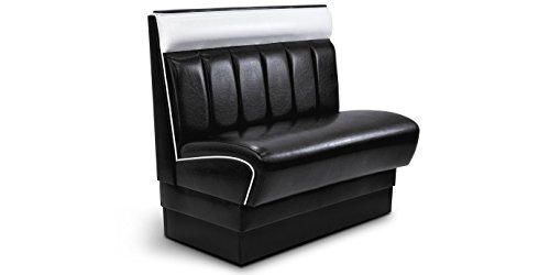 American-Style-Dinerbank-Gastro-King-100cm-Mbel-Sitzbank-Polsterbank-USA-Style-Dinermbel-Schwarz-Weiss