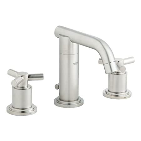 Grohe K20072-18026-EN0 Atrio Lavatory Faucet Kit, Cross Brushed Nickel
