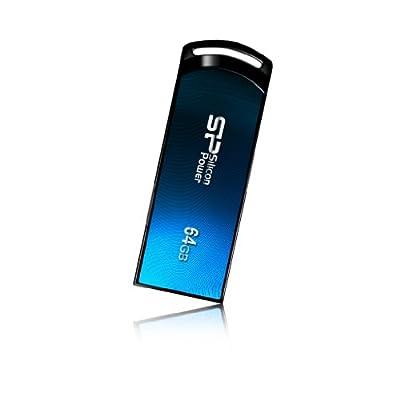 Silicon Power Ultima U01 64GB USB 2.0 Flash Drive, Blue (SP064GBUF2U01V1B)