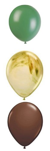 Camouflage Camo Party Supplies Latex Balloons 12 count - 1