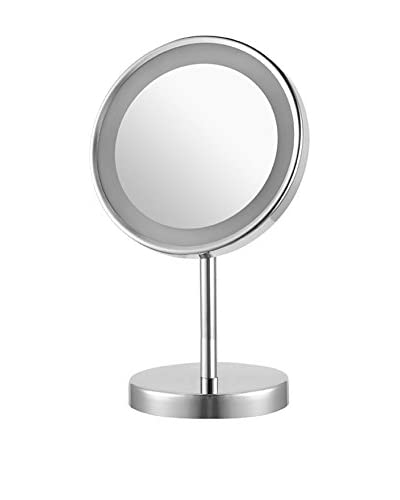 Nameek's Glimmer Round Free Standing 3X Led Makeup Mirror, Chrome