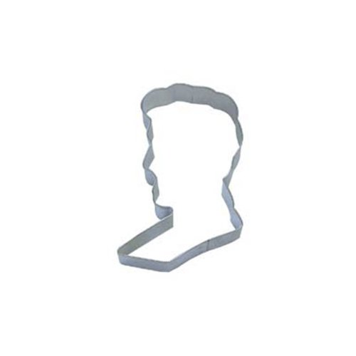 Dress My Cupcake DMC41CC1176 President Lincoln Head Cookie Cutter, 3-Inch