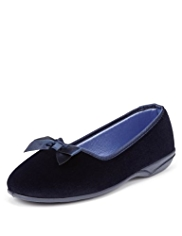 Classic Slip-On Bow Slippers
