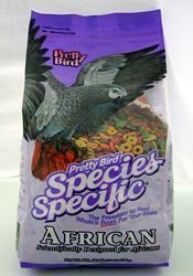 Pretty Bird International BPB78313 Species Specific African Bird Food with Extra Calcium, 8-Pound