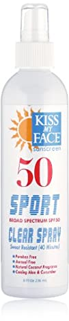 Kiss My Face Sports Spray SPF 50 8 Ounce