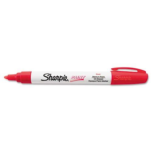 Sharpie Permanent Paint Marker, Medium Point, Red
