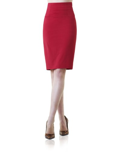 Solid Pencil Skirt by Shape FX