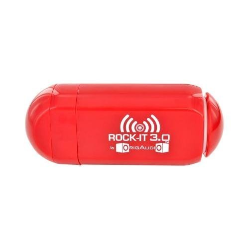 Origaudio Rock-It 3.0 Portable Vibration Speaker System For Ipod, Iphone And Standard 3.5 Mm Jack (Red)