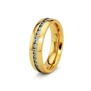 Unisex 18K Gold Stainless Steel Eternity Band - 8