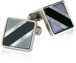 Semi-Precious Titanium Cufflinks with Presentation Box