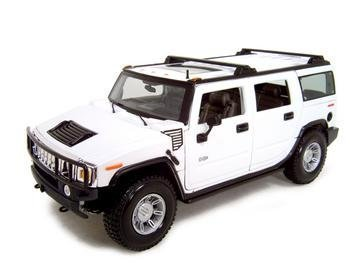 HUMMER H2 WHITE 1:18 SCALE DIECAST MODEL by Maisto (Hummer H2 1 18 compare prices)