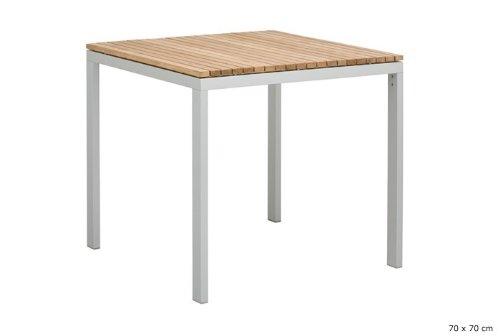 ALCOR Tisch Gartentisch 70×70 FSC Teakholz Alu günstig kaufen
