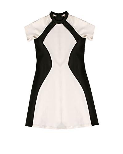 LOLA CASADEMUNT Vestido Crudo / Negro