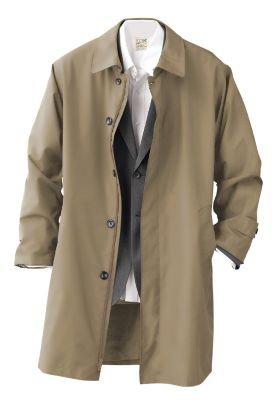 TravelSmith Mens Rain Car Coat Khaki M | Trench Coat