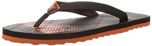 Puma Men's Miami 6 DP Black-Vibrant Orange Mesh Flip Flops Thong Sandals - 7 UK/India (40.5 EU)  available at amazon for Rs.399
