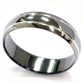 Jewels By Lux Cobalt 6mm Beveled Edge Wedding Ring Band