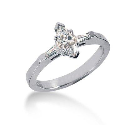 .62 CT MARQUISE DIAMOND ENGAGEMENT WHITE GOLD RING I VS2