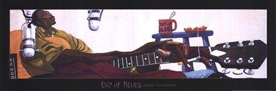 Cup Of Blues High Quality Museum Wrap Canvas Print Dane Tilghman 36X12