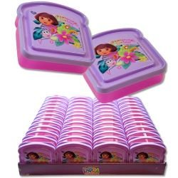 Disney Bread Shaped Sandwich Container (Dora the explorer) by Zak Designs - 1