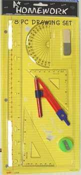 DDI Drawing / Math - 8 piece set Case Pack 48