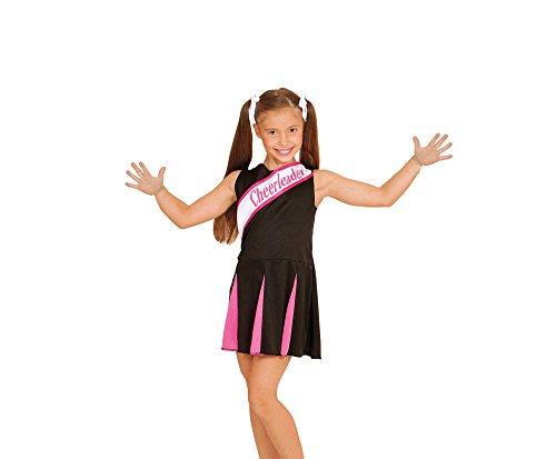 widmann-wdm02444-costume-per-bambini-cheerleader-nera-rosa-104-cm-2-3-anni-nero-xxxxs